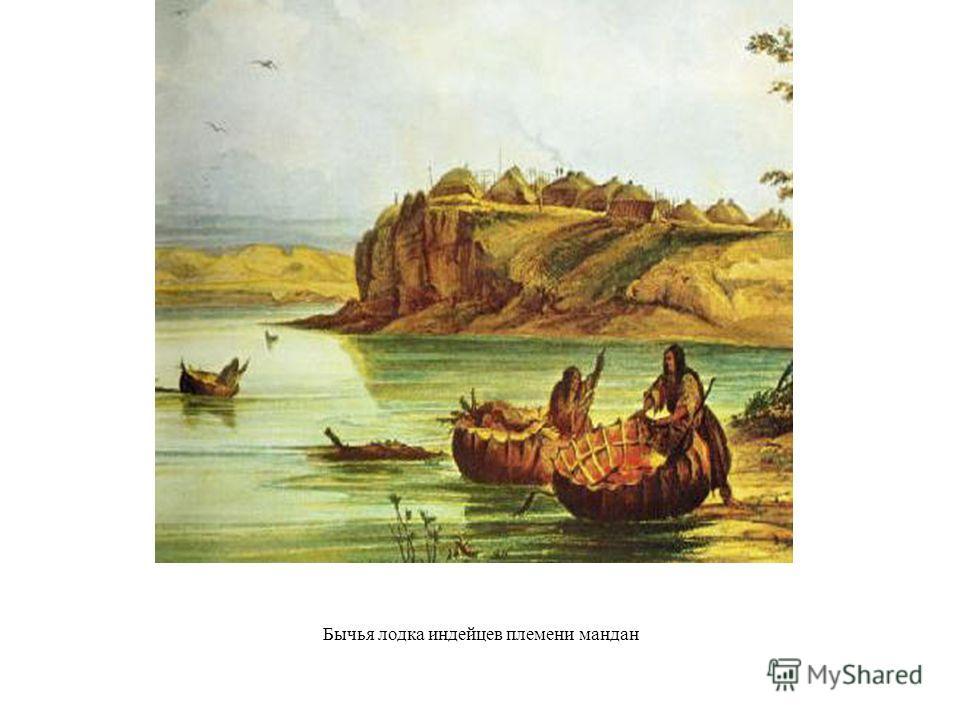 Бычья лодка индейцев племени мандан