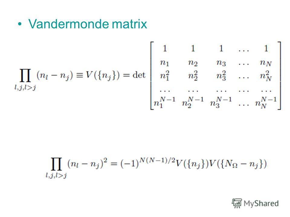 Vandermonde matrix