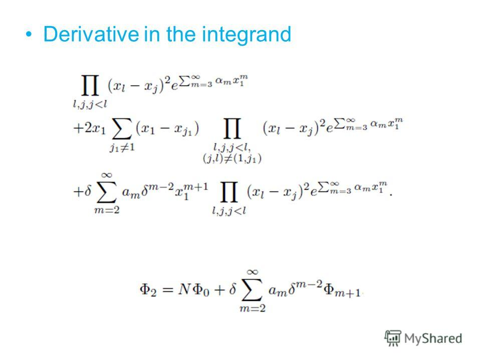 Derivative in the integrand
