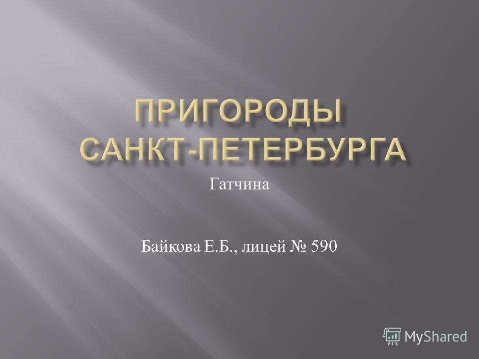 Гатчина Байкова Е. Б., лицей 590