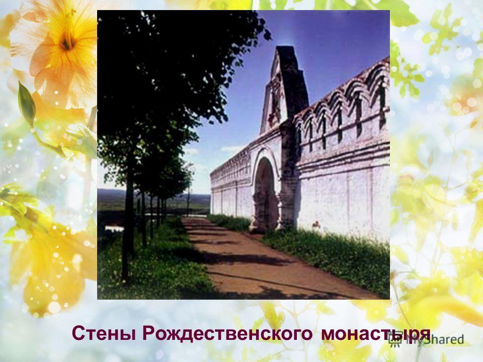 Стены Рождественского монастыря
