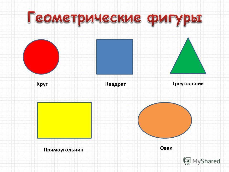 КругКвадрат Треугольник Прямоугольник Овал