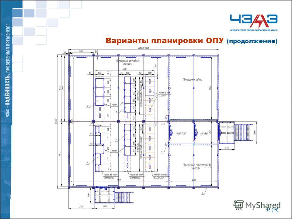 15 (19) Варианты планировки ОПУ (продолжение)