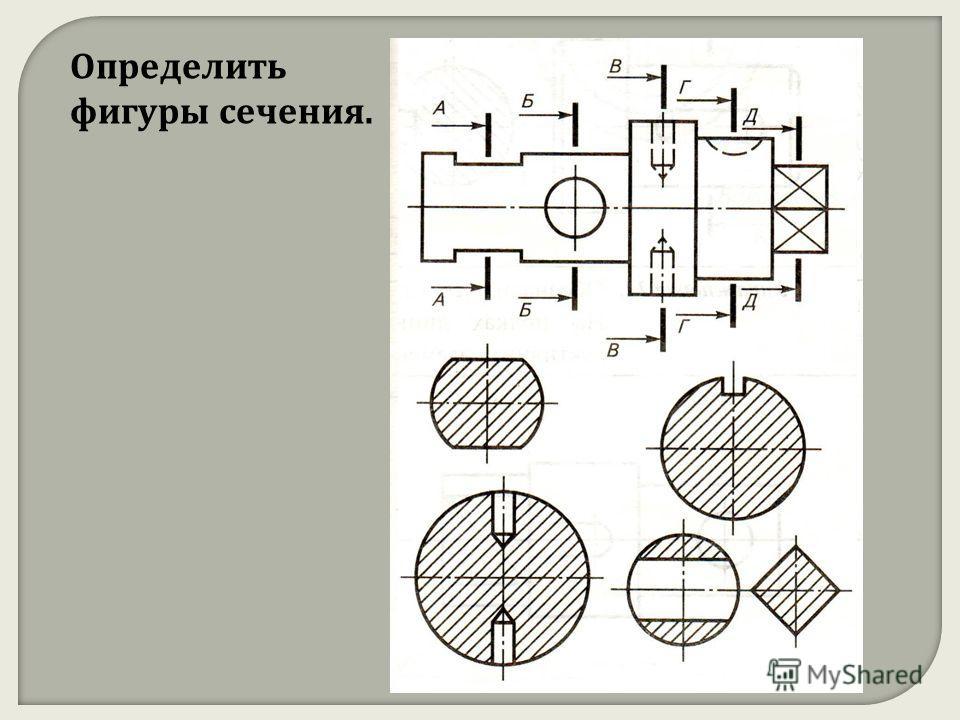 Определить фигуры сечения.
