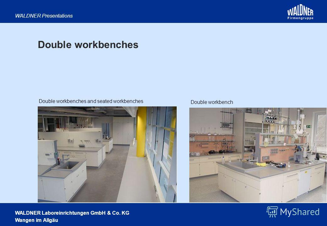 WALDNER Laboreinrichtungen GmbH & Co. KG Wangen im Allgäu WALDNER Presentations Double workbenches and seated workbenches Double workbench Double workbenches
