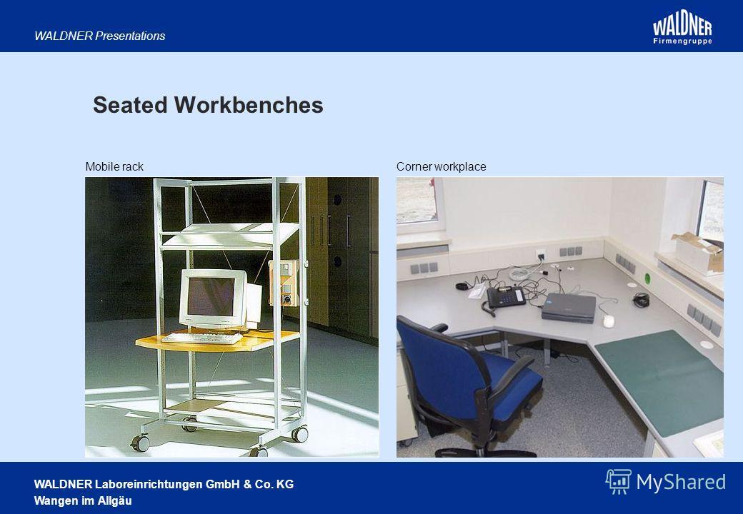 WALDNER Laboreinrichtungen GmbH & Co. KG Wangen im Allgäu WALDNER Presentations Seated Workbenches Mobile rackCorner workplace