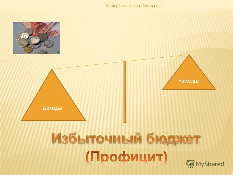 Доходы Расходы Майорова Татьяна Леонтьевна