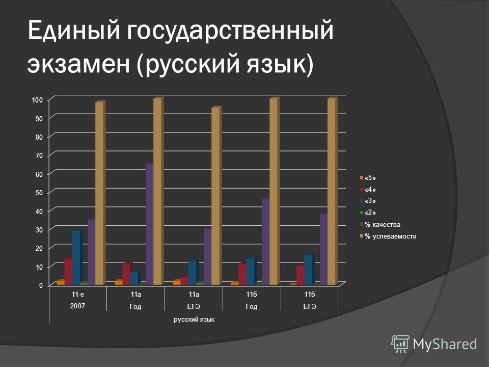 Единый государственный экзамен (русский язык)
