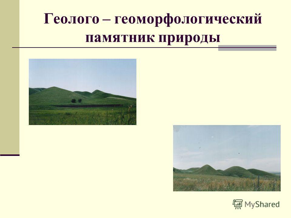 Геолого – геоморфологический памятник природы