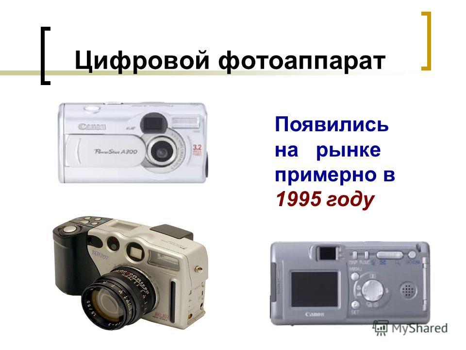 Цифровой фотоаппарат Появились на рынке примерно в 1995 году