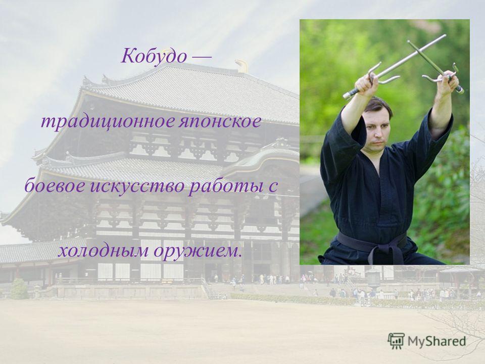 Кобудо традиционное японское боевое искусство работы с холодным оружием.