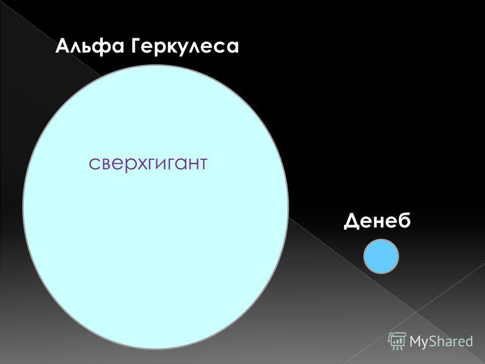 Альфа Геркулеса сверхгигант Денеб