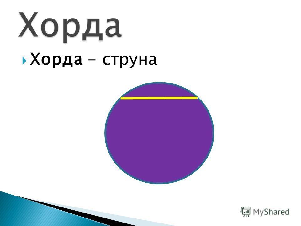 Хорда - струна