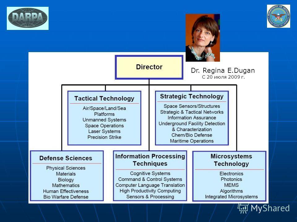 Dr. Regina E.Dugan С 20 июля 2009 г.