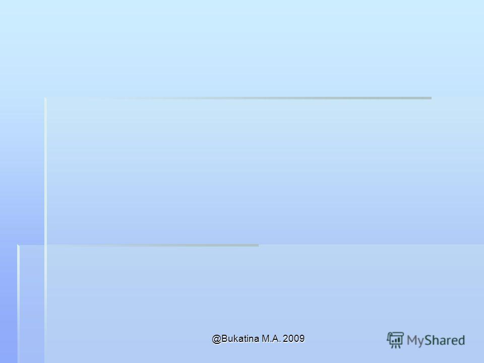 @Bukatina M.A. 2009