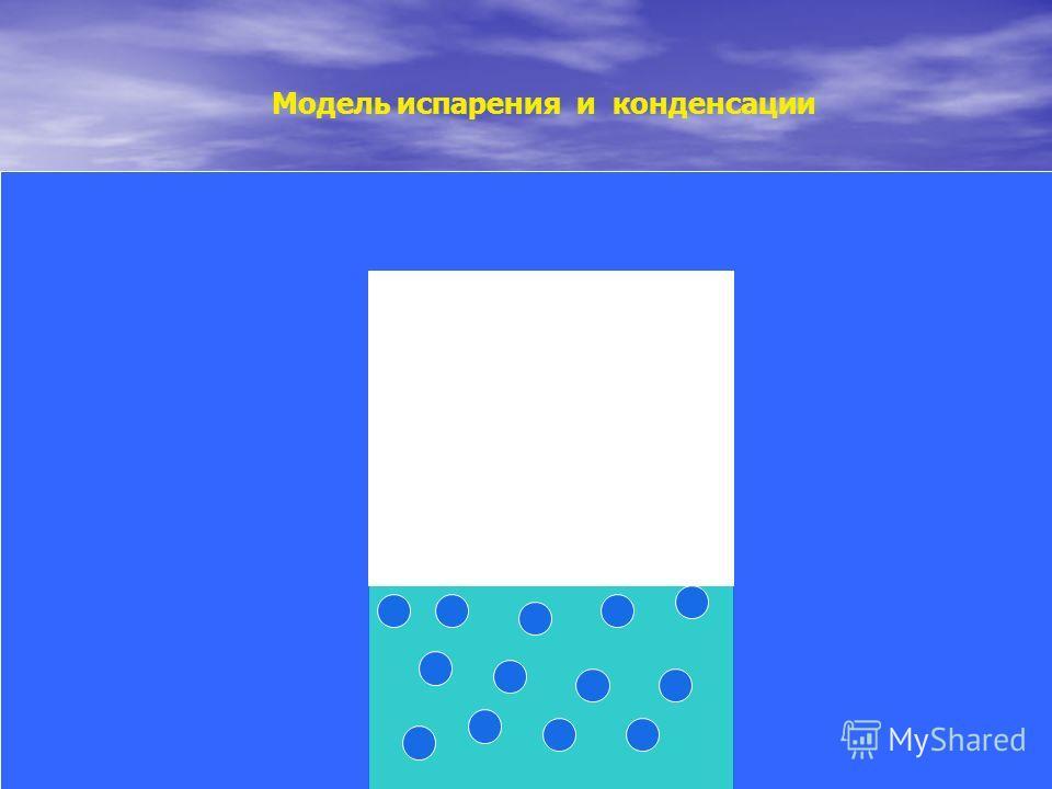 Модель испарения и конденсации