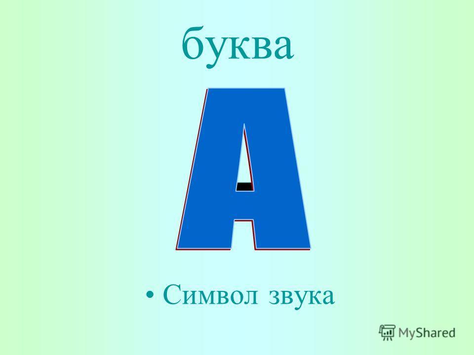 буква Символ звука