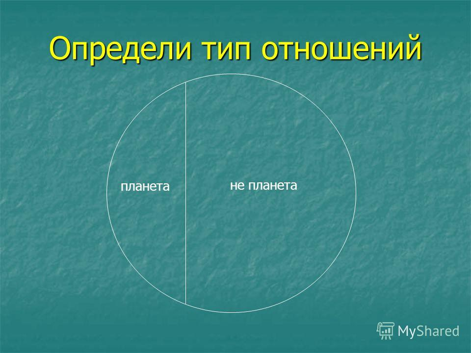 планета не планета Определи тип отношений