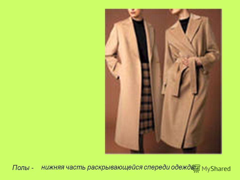 Полы - нижняя часть раскрывающейся спереди одежды