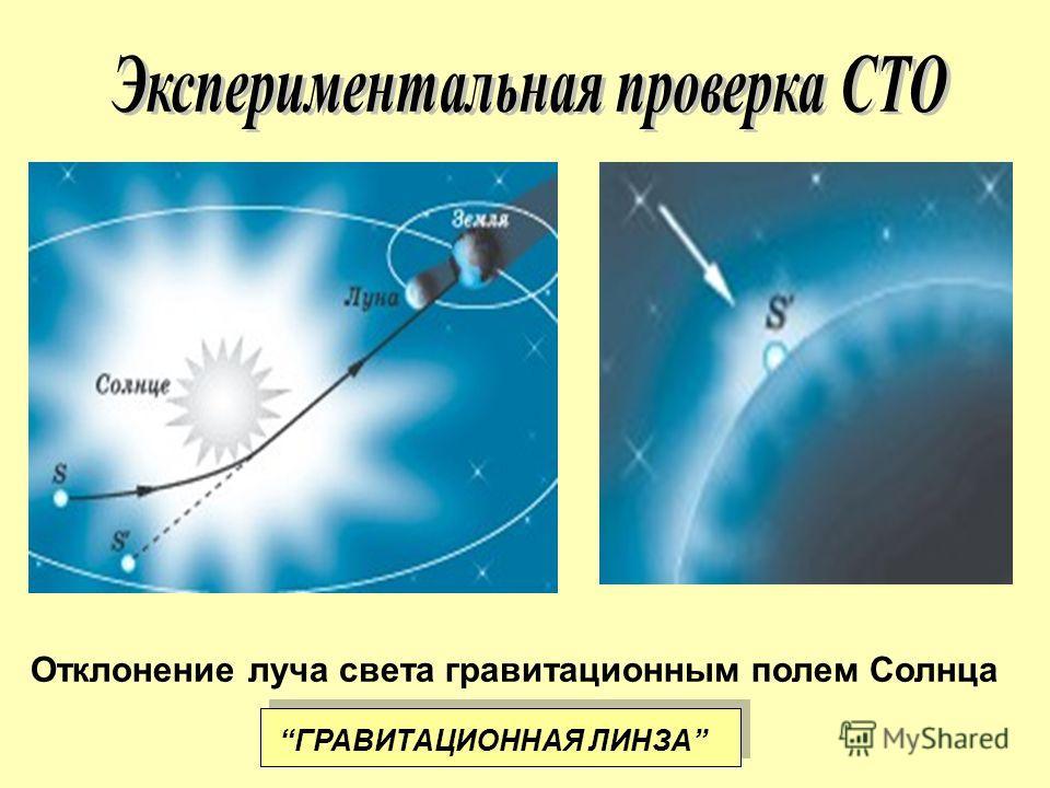 Отклонение луча света гравитационным полем Солнца ГРАВИТАЦИОННАЯ ЛИНЗА