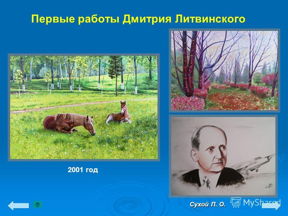 Первые работы Дмитрия Литвинского Сухой П. О. 2001 год