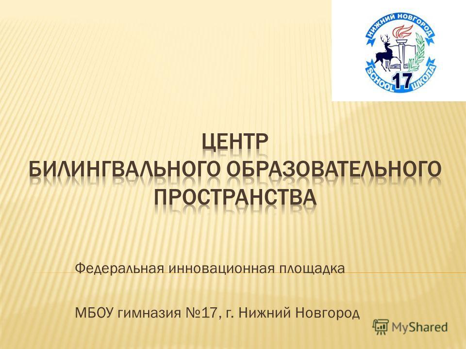 Федеральная инновационная площадка МБОУ гимназия 17, г. Нижний Новгород