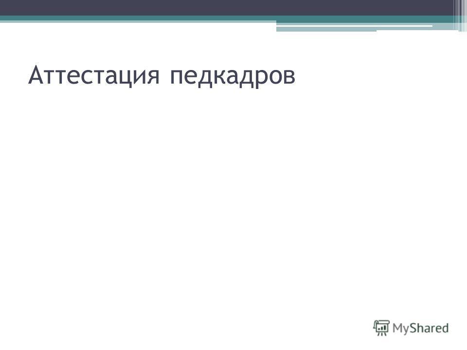 Аттестация педкадров