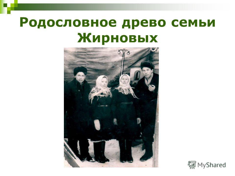Родословное древо семьи Жирновых