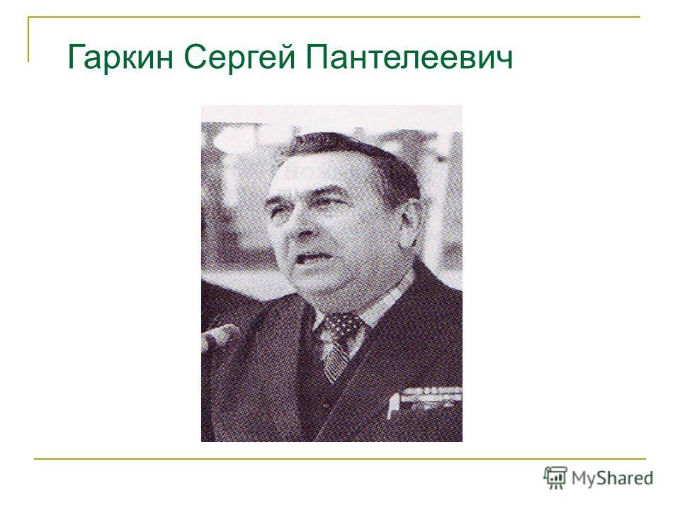 Гаркин Сергей Пантелеевич