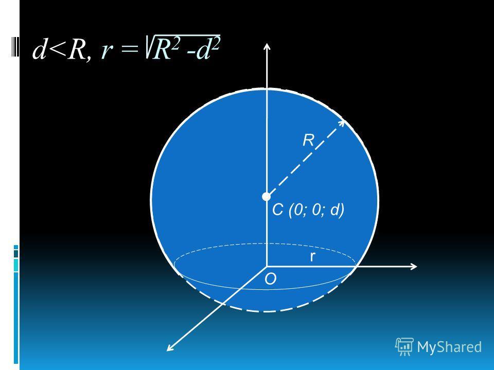 О R r С (0; 0; d) d