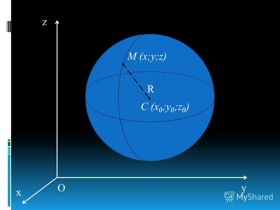 C (x 0 ;y 0 ;z 0 ) R M (x;y;z) O z y x