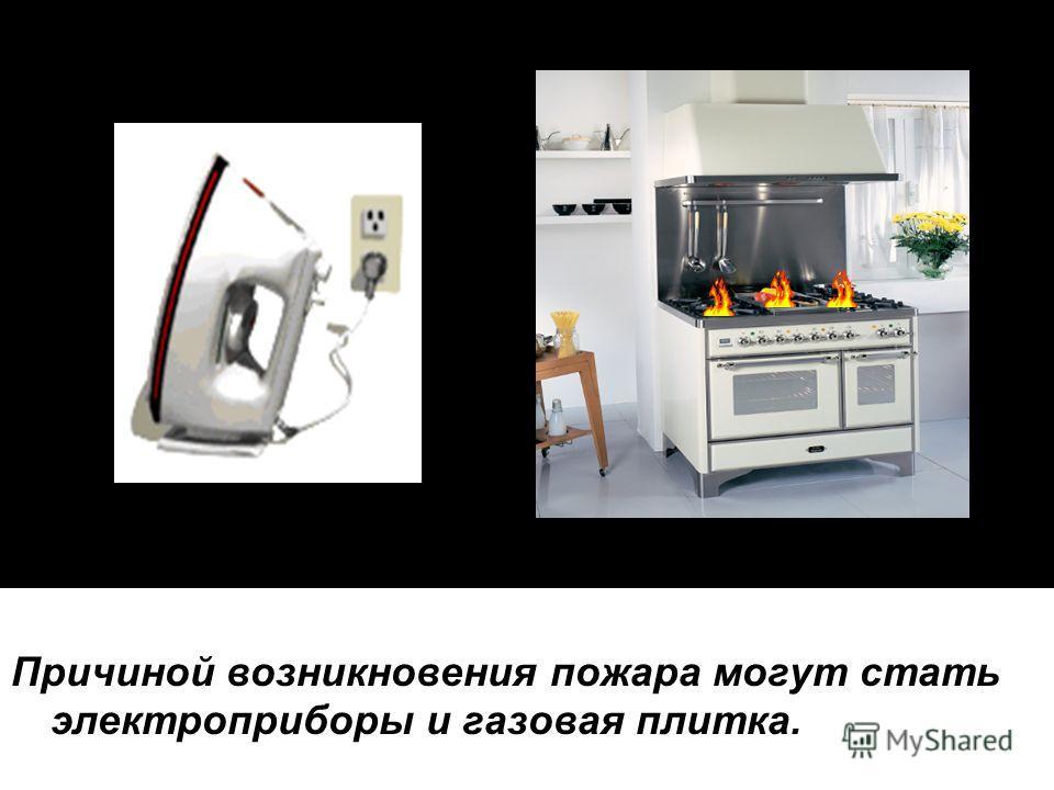 Причиной возникновения пожара могут стать электроприборы и газовая плитка.