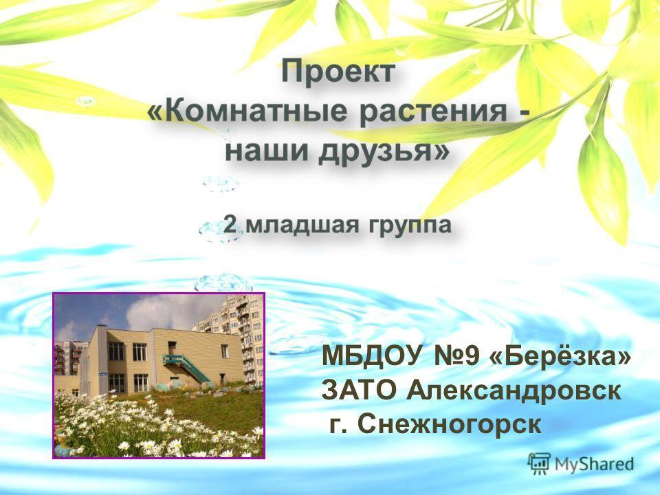 МБДОУ 9 «Берёзка» ЗАТО Александровск г. Снежногорск