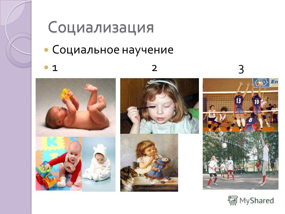 Социализация Социальное научение 1 2 3