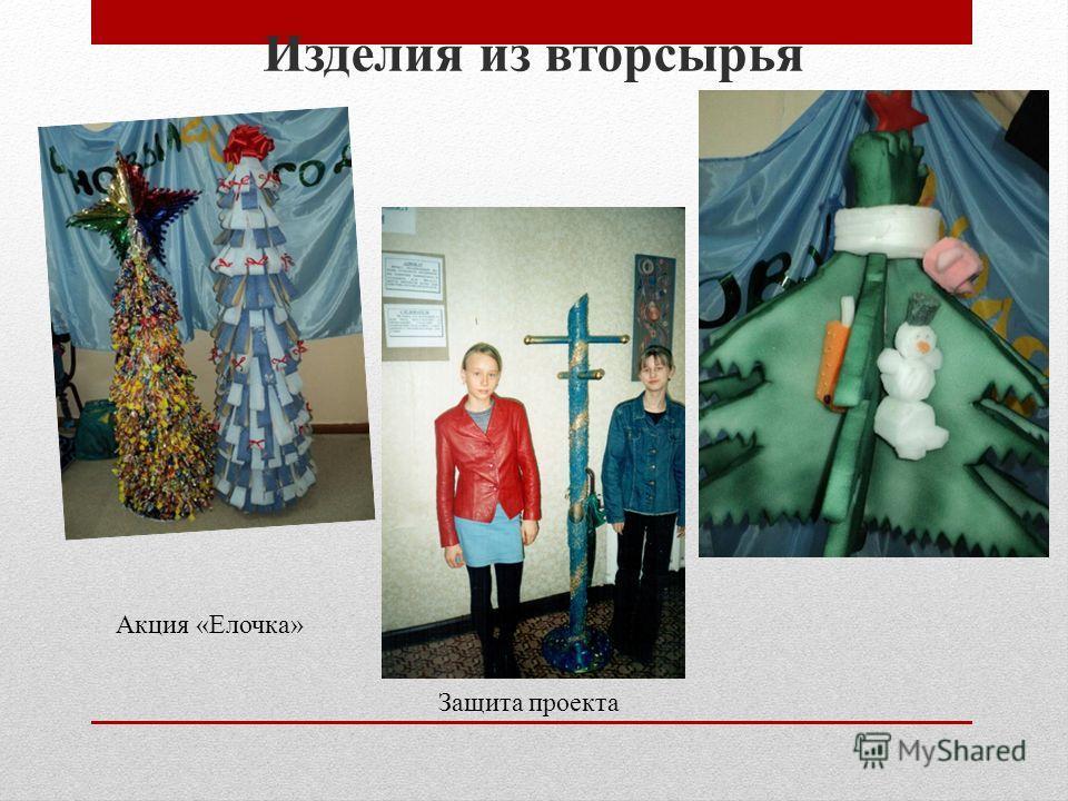 Изделия из вторсырья Акция «Елочка» Защита проекта