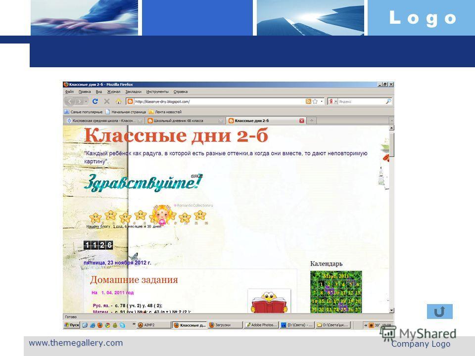 L o g o www.themegallery.com Company Logo