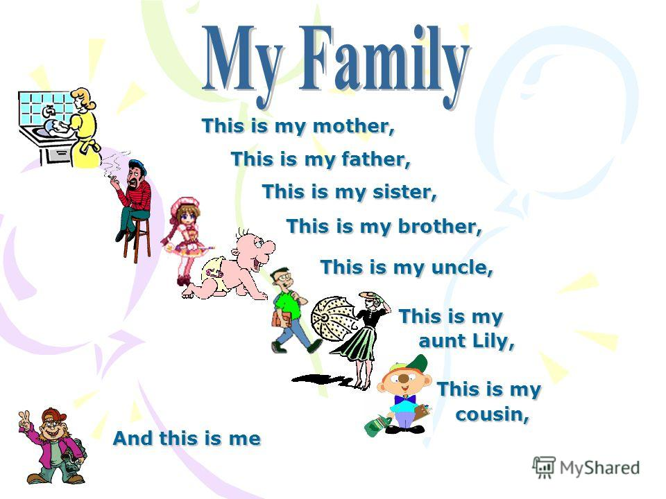 This is my mother, This is my father, This is my father, This is my sister, This is my sister, This is my brother, This is my brother, This is my uncle, This is my uncle, This is my This is my aunt Lily, aunt Lily, This is my This is my cousin, cousi