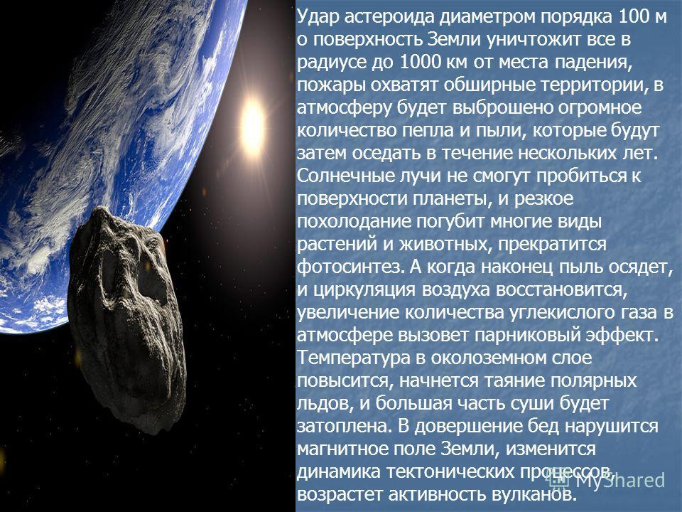 Из темных недр безграничного космоса к Земле на огромной скорости мчится громадный астероид, грозя гибелью всему живому. Удар - и… До поры до времени это всего лишь страшная сказка, рассказанная на ночь беспечному человечеству. Однако любая сказка -