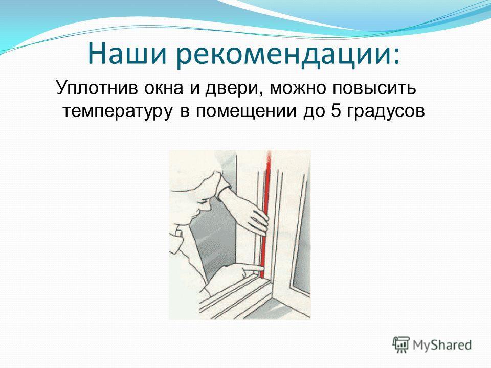 Наши рекомендации: Уплотнив окна и двери, можно повысить температуру в помещении до 5 градусов
