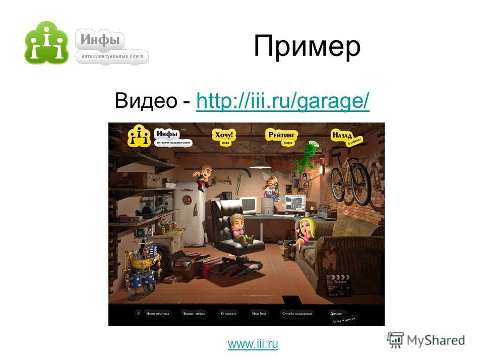 Пример Видео - http://iii.ru/garage/http://iii.ru/garage/ www.iii.ru