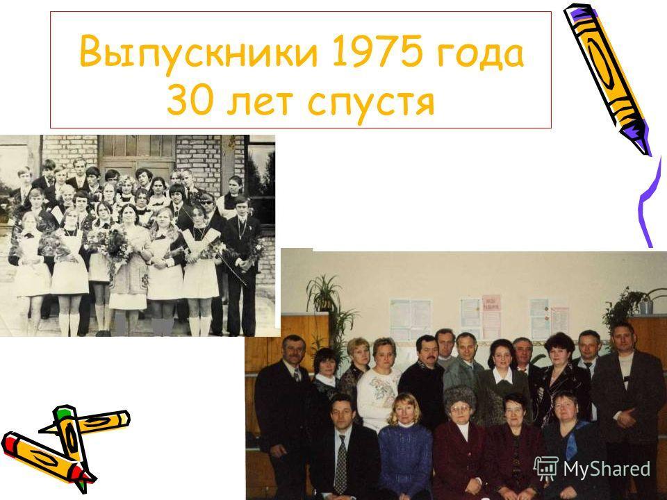 Выпускники 1975 года 30 лет спустя