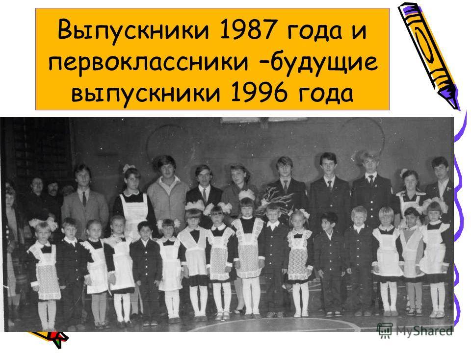 Выпускники 1987 года и первоклассники –будущие выпускники 1996 года