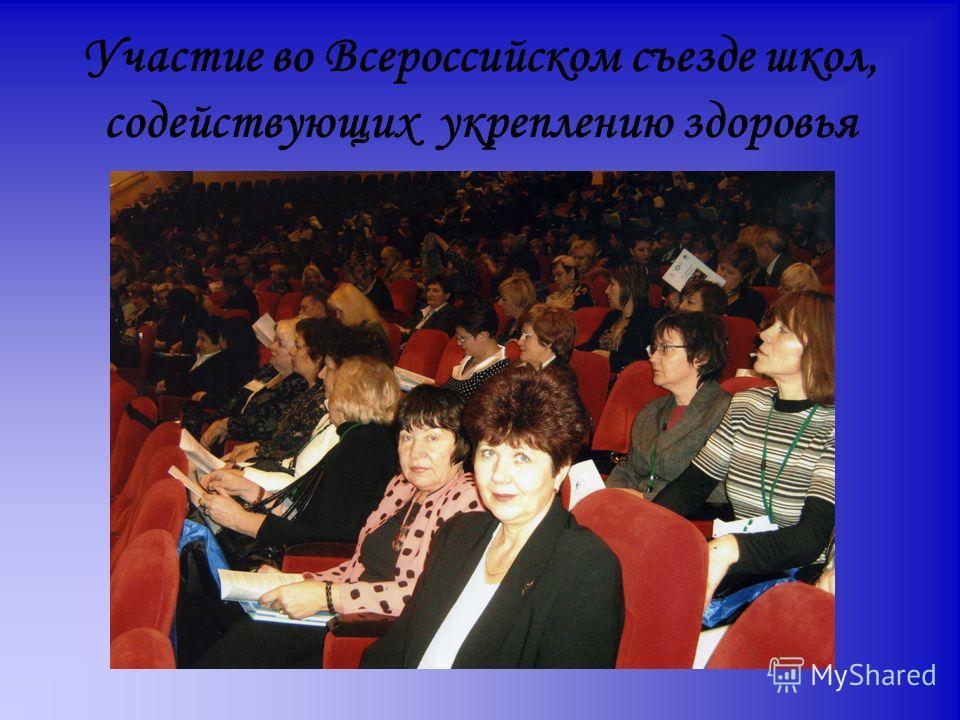 Участие во Всероссийском съезде школ, содействующих укреплению здоровья