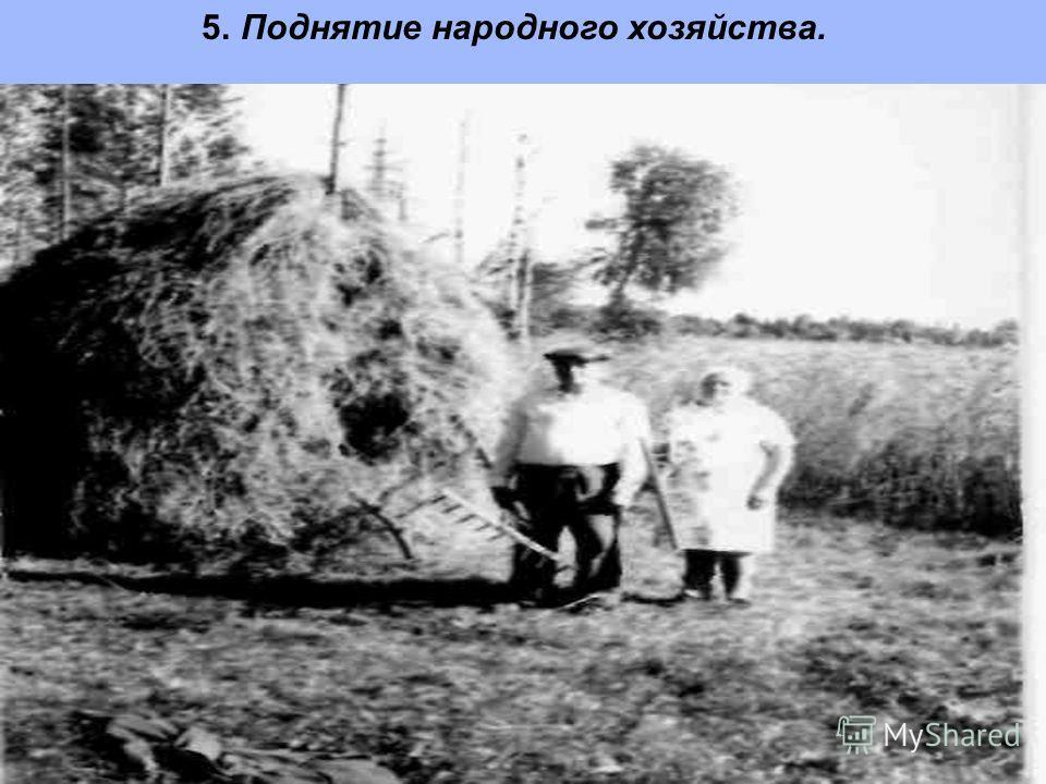 5. Поднятие народного хозяйства.