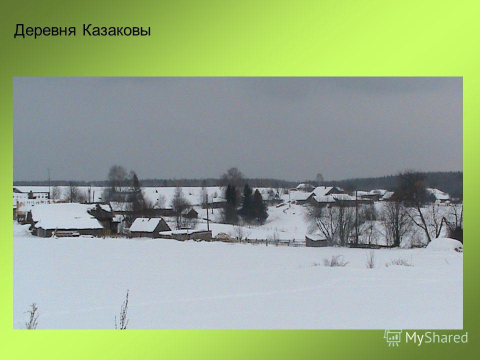 Деревня Казаковы