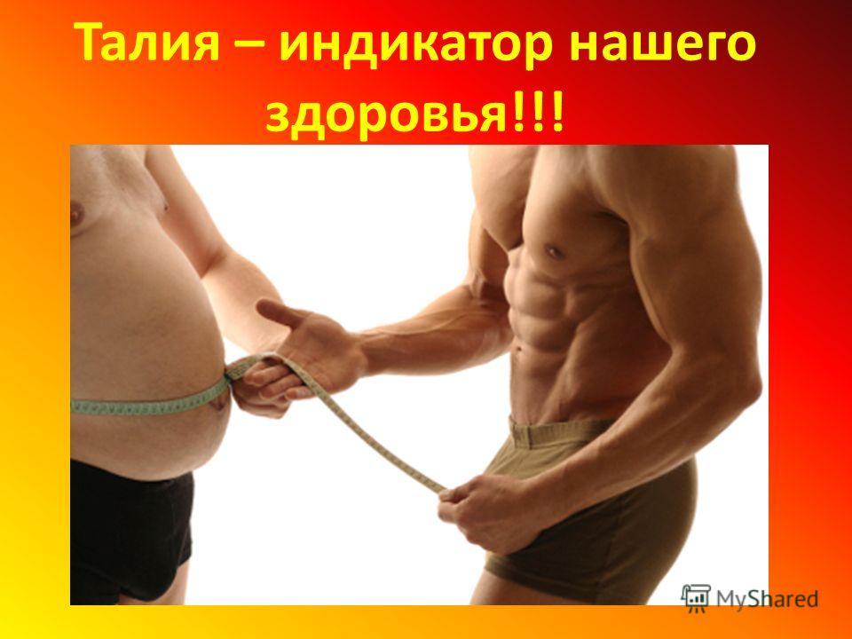 Талия – индикатор нашего здоровья!!!