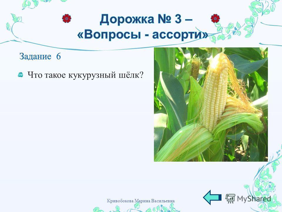 Что такое кукурузный шёлк ? Кривобокова Марина Васильевна