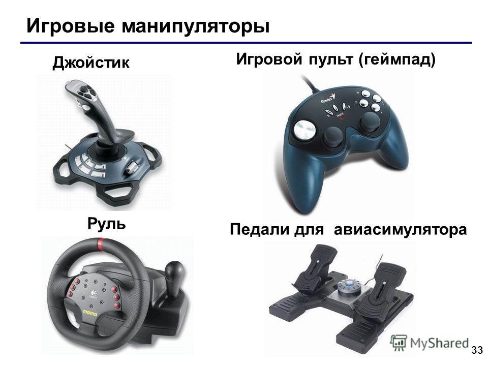 33 Игровые манипуляторы Игровой пульт (геймпад) Джойстик Руль Педали для авиасимулятора