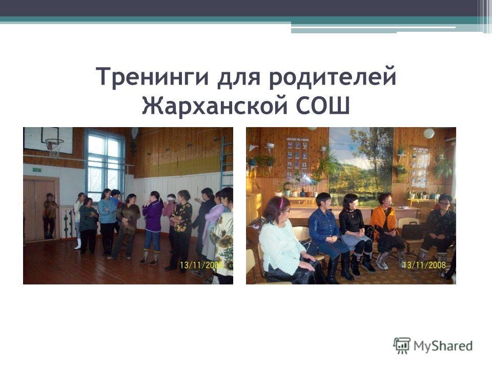 Тренинги для родителей Жарханской СОШ