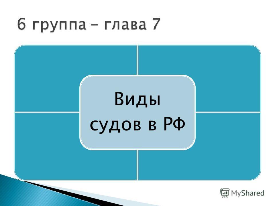 Виды судов в РФ